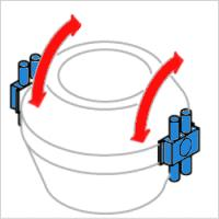 鍋傾倒装置用アクチュエーター